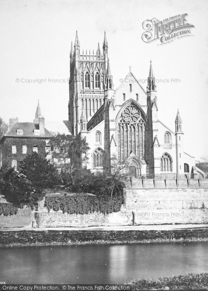 Photo of Worcester, The Cathedral, West Front c.1869