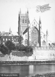 Worcester, The Cathedral, West Front c.1869