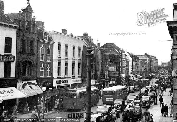 Photo of Worcester, The Cross c.1950