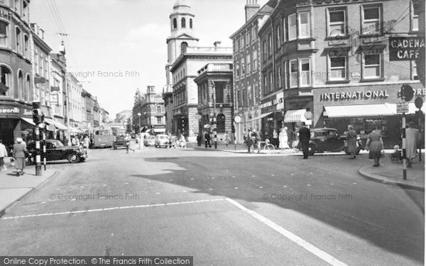 Photo of Worcester, The Cross c.1960