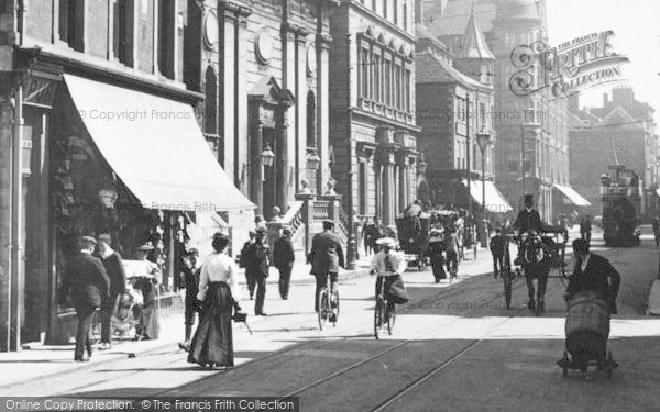Photo of Worcester, The Cross, Traffic 1904