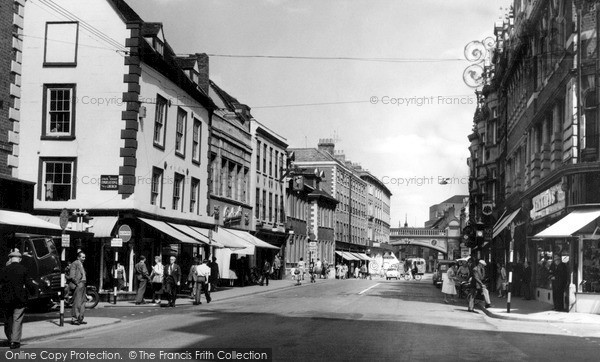 Photo of Worcester, The Foregate c.1960