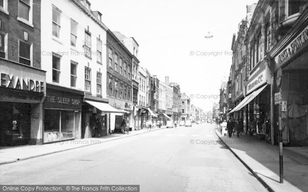 Photo of Worcester, The High Street c.1960