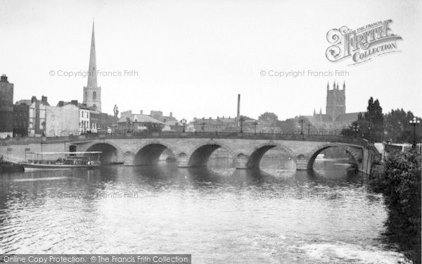 Photo of Worcester, The New Bridge And Cathedral c.1955