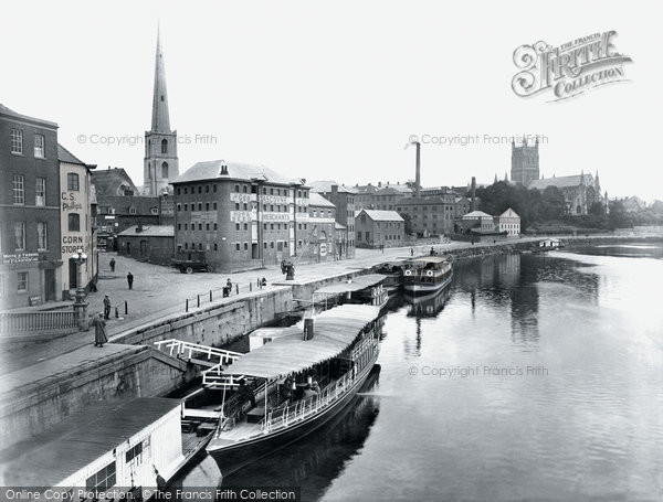 Photo of Worcester, The Quay 1923