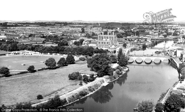 Photo of Worcester, The River Severn And Cricket Ground c.1960