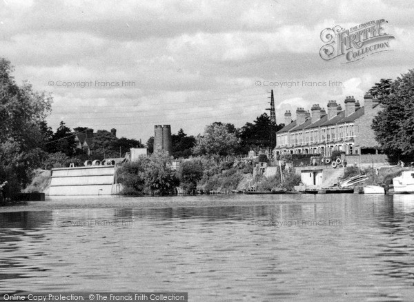 Photo of Worcester, The River Severn And Old Water Tower c.1960