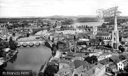 Worcester, The River Severn From The Cathedral Tower c.1960