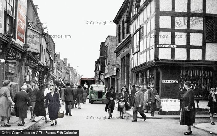 Photo of Worcester, The Shambles c.1950