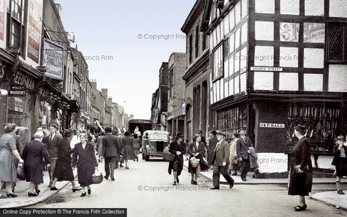 Photo of Worcester, the Shambles c1950