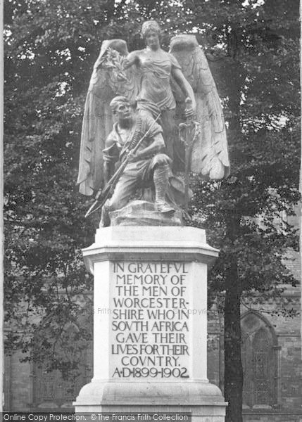 Photo of Worcester, The South African War Memorial 1907