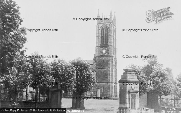 Photo of Wordsley, Holy Trinity  Church And The Memorial c.1955