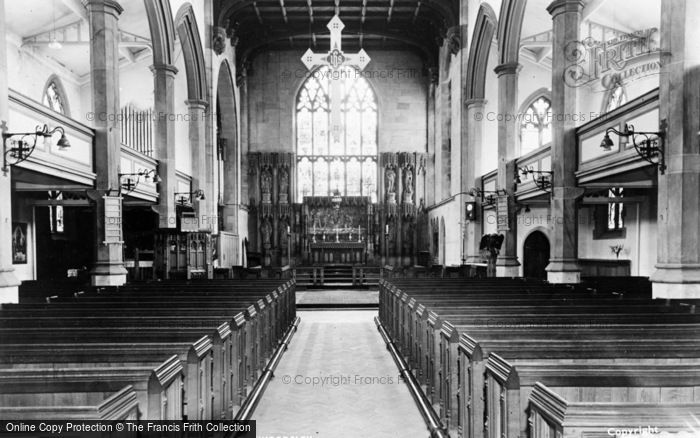 Photo of Wordsley, Holy Trinity Church Interior c.1965