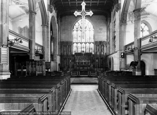 Photo of Wordsley, Holy Trinity Church interior c1965
