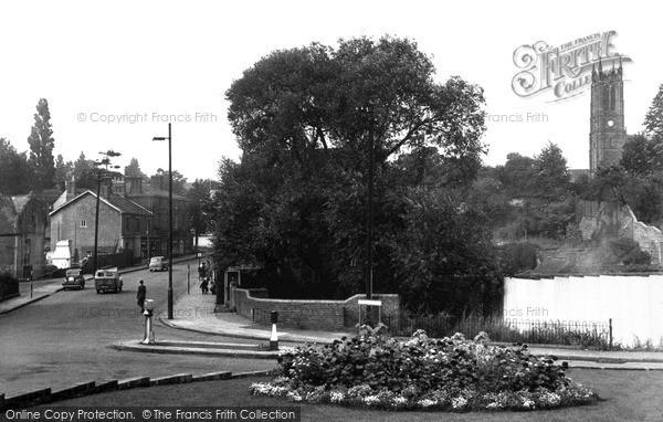 Photo of Wordsley, Lower High Street And Holy Trinity Church c.1955