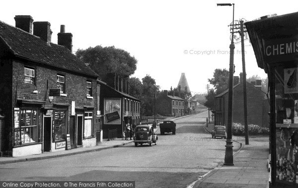 Photo of Wordsley, Lower High Street c1955