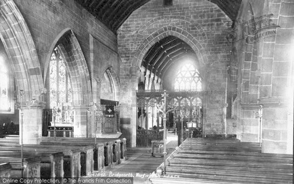 Photo of Worfield, Church Interior 1898