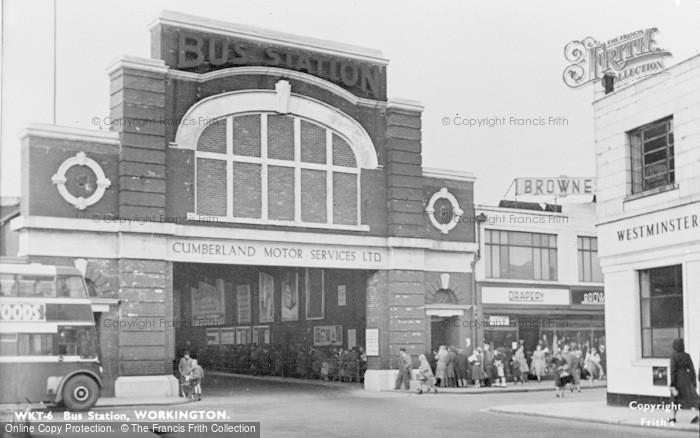 Photo of Workington, Bus Station c.1955