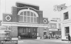 Workington, Bus Station c.1955