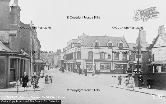 Photo of Workington, Central Square c.1955