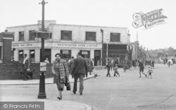 Workington, Pedestrians In Oxford Street c.1955