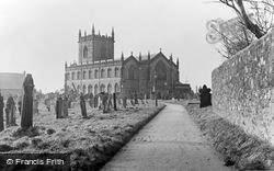Workington, St Michael's Church c.1955
