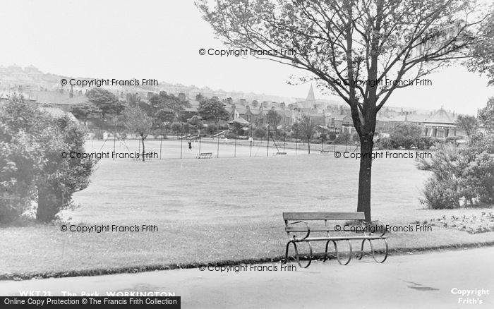 Photo of Workington, The Park c.1955