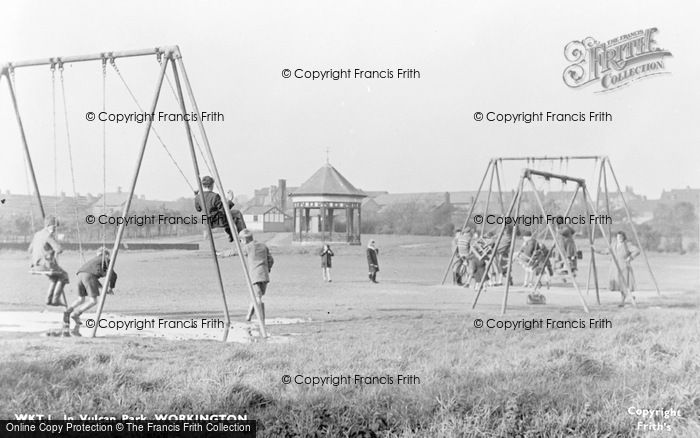 Photo of Workington, Vulcan Park, Children Playing c.1955