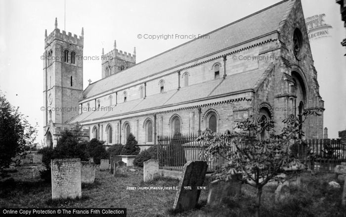 Photo of Worksop, Abbey Church From South East c.1880