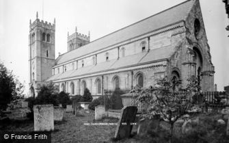 Worksop, Abbey Church from south east c1880