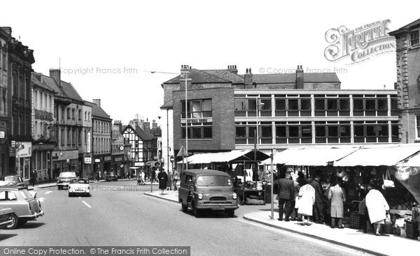 Photo of Worksop, Bridge Street Market c1965