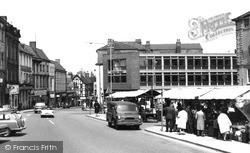 Worksop, Bridge Street Market c.1965