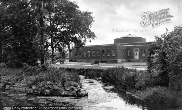 Photo of Worksop, Library And Memorial Gardens c.1955