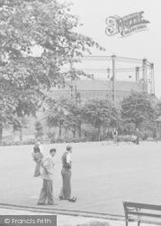 Worksop, Men Playing Bowls c.1955