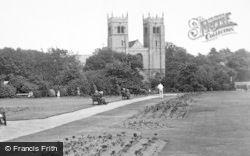 Worksop, Priory Church c.1955