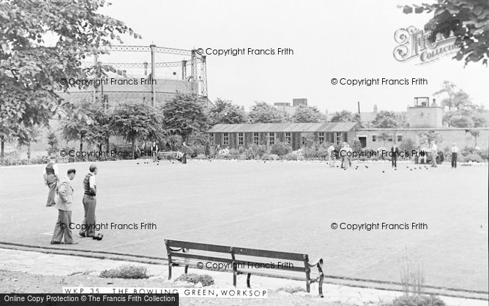 Photo of Worksop, The Bowling Green c.1955