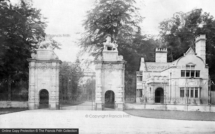 Photo of Worksop, The Lion Gates, Welbeck Abbey c.1880