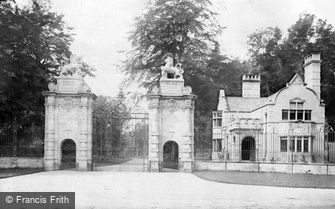Worksop, the Lion Gates, Welbeck Abbey c1880