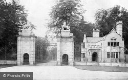 Worksop, The Lion Gates, Welbeck Abbey c.1880