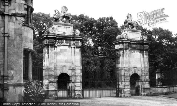 Photo of Worksop, The Lion Gates, Welbeck Abbey c.1965