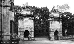 Worksop, The Lion Gates, Welbeck Abbey c.1965