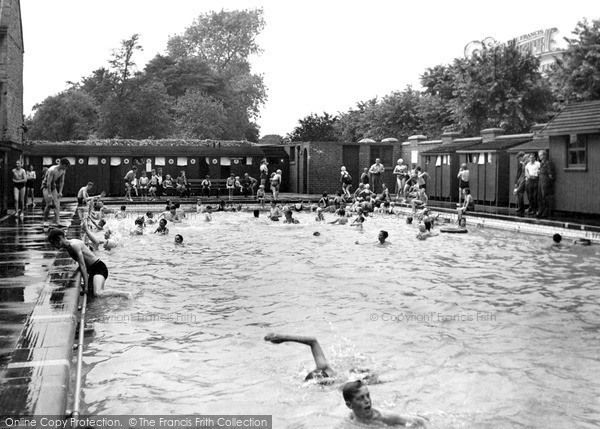 Photo of Worksop, the Swimming Pool c1955