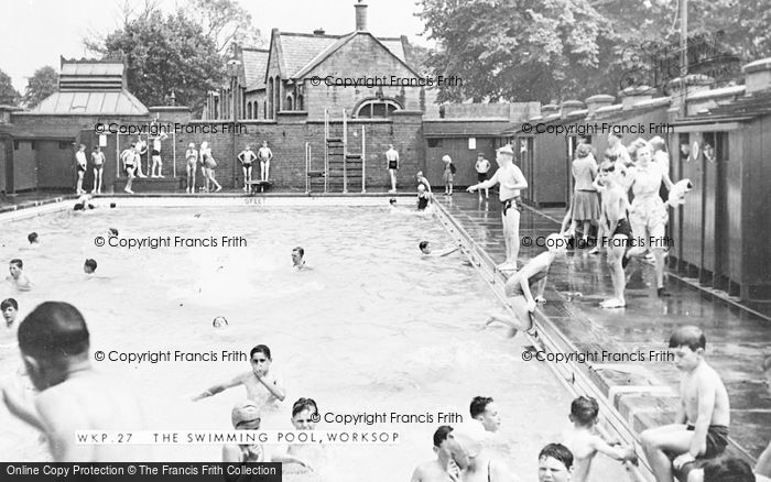Photo of Worksop, The Swimming Pool c.1955