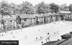 Worksop, The Swimming Pool c.1955