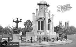 Worksop, War Memorial c.1955