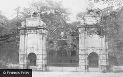 Worksop, Welbeck Abbey, Lion Entrance Gates c.1965