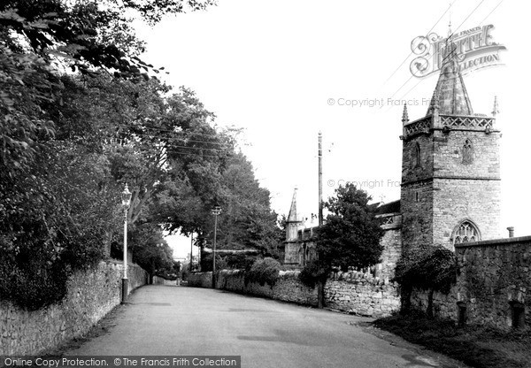Photo of Worle, Church Road And St Martin's Church c.1955