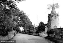 Worle, Church Road And St Martin's Church c.1955