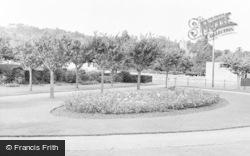 Worle, The Rose Garden c.1955