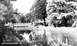 Wormley, The River Lea c.1960